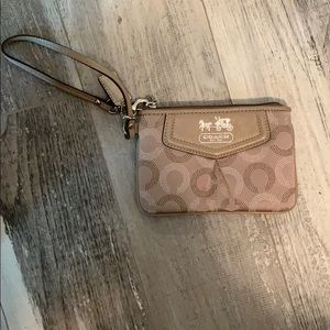 Never used Coach coin purse/wristlet